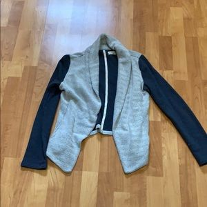 Lou & Grey small cotton jacket. Blue and off white
